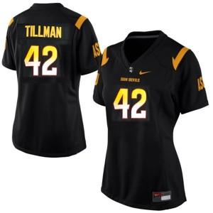 Pat Tillman (ASU) #42 Women Football Jersey - Black