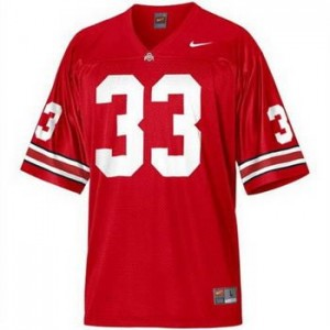 Pete Johnson Ohio State Buckeyes #33 Youth Football Jersey - Scarlet Red