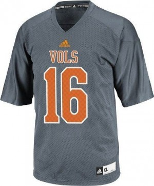 Peyton Manning Tennessee Volunteers #16 Youth Football Jersey - Gray