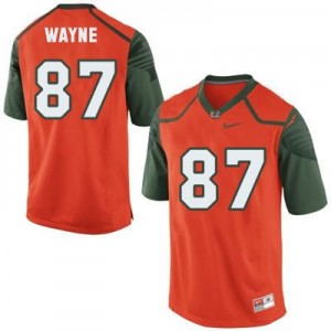 Reggie Wayne Miami Hurricanes #87 Youth Football Jersey - Orange