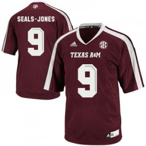 Ricky Seals Jones Texas A&M Aggies #9 Football Jersey - Maroon Red