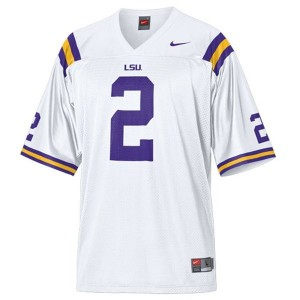 Rueben Randle LSU Tigers #2 Mesh Youth Football Jersey - White