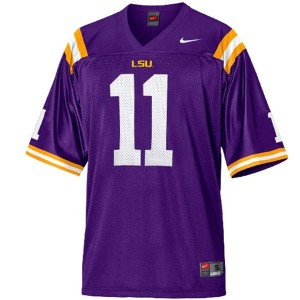 Spencer Ware LSU Tigers #11 Mesh Youth Football Jersey - Purple