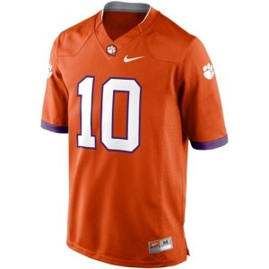 Tajh Boyd Clemson Tigers #10 Football Jersey - Orange
