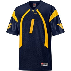 Tavon Austin West Virginia Mountaineers #1 Youth Football Jersey - Blue