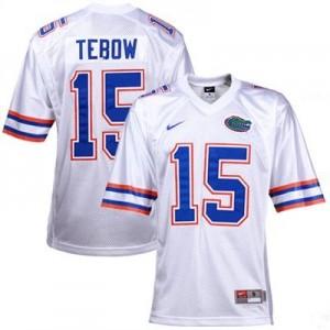 Tim Tebow Florida Gators #15 Youth Football Jersey - White