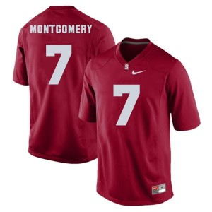 Ty Montgomery Stanford Cardinal #7 Football Jersey - Red