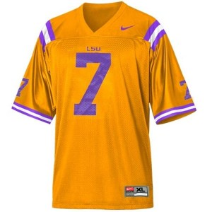Tyrann Mathieu LSU Tigers #7 Mesh Youth Football Jersey - Gold