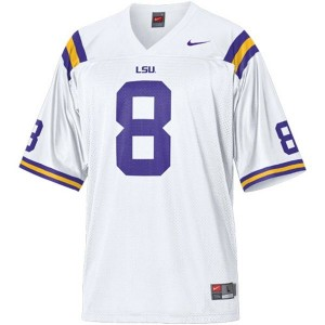 Zach Mettenberger LSU Tigers #8 Mesh Youth Football Jersey - White