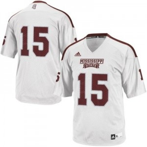 Mississippi State Bulldogs #15 Football Jersey - White