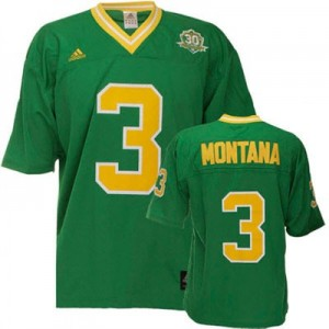 Joe Montana Notre Dame Fighting Irish #3 Football Jersey - Green