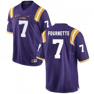 Leonard Fournette LSU Tigers #7 Football Jersey - Purple