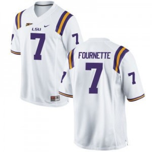 Leonard Fournette LSU Tigers #7 Football Jersey - White