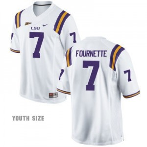 Leonard Fournette LSU Tigers #7 Youth Football Jersey - White