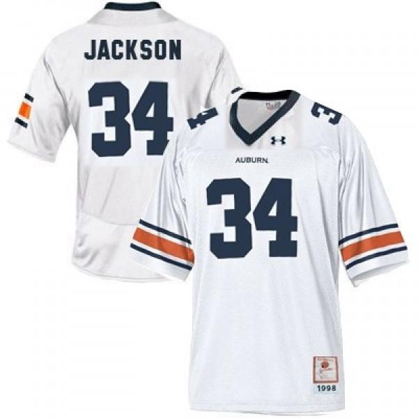 69bf4bc3a Bo Jackson Auburn Tigers #34 Youth Football Jersey - White