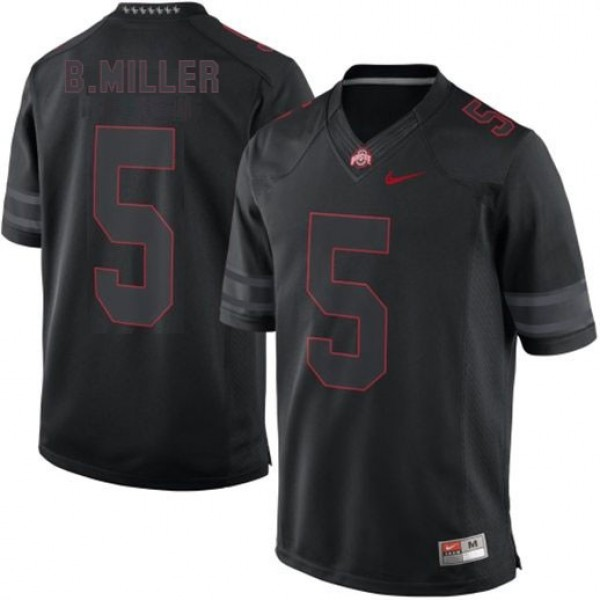 Braxton Miller Ohio State Buckeyes #5 Lights Out Football Jersey - Black