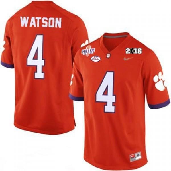 info for d8530 a6376 Deshaun Watson #4 Clemson Tigers National Championship Football Jersey -  Orange