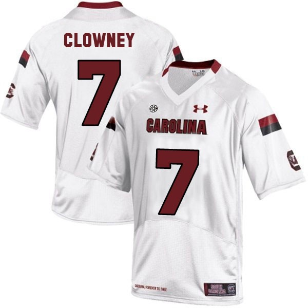 Jadeveon Clowney South Carolina Gamecocks #7 Youth Football Jersey - White