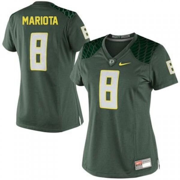 promo code 98e36 bbe6c Marcus Mariota Oregon Ducks #8 Women Football Jersey - Green