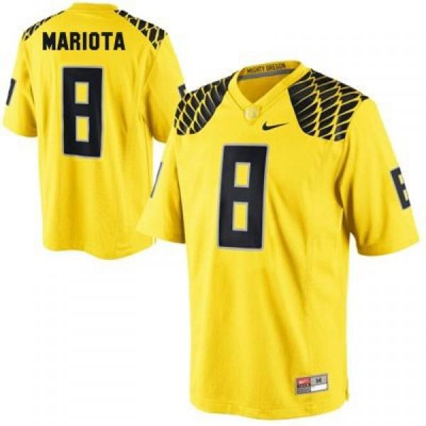 innovative design 9cb93 8c7f1 Marcus Mariota Oregon Ducks #8 Youth Football Jersey - Yellow