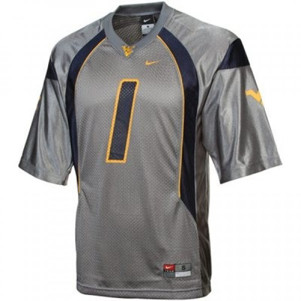 Tavon Austin West Virginia Mountaineers #1 Football Jersey - Gray